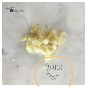 Grated-pear-baby-mealtimes