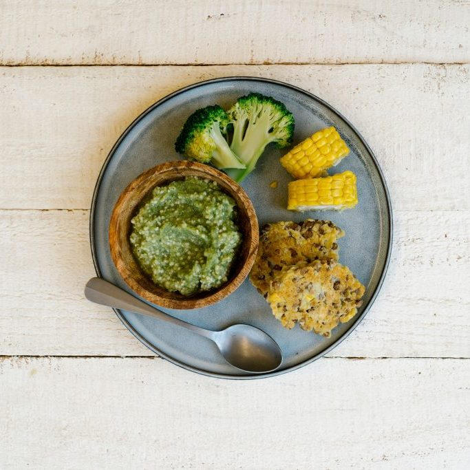 Cous-cous-broccoli-puree-baby-mealtimes